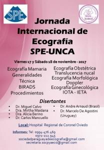 Afiche Jornada Internacional de Ecografía SPE-UNCA